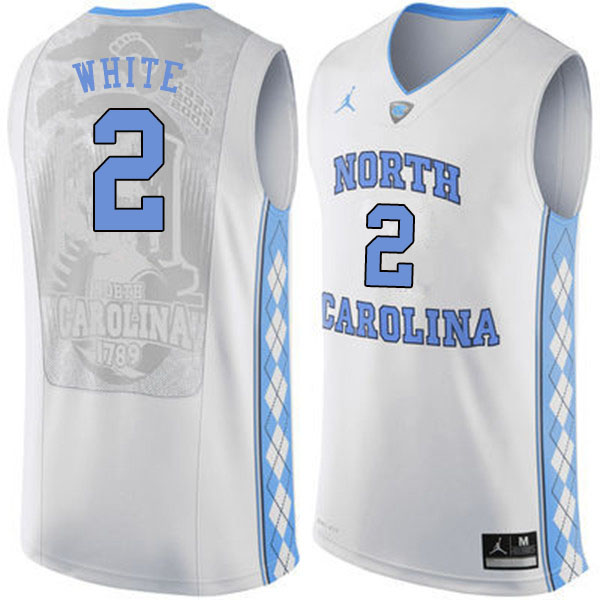 Men #2 Coby White North Carolina Tar Heels College Basketball Jerseys Sale-White