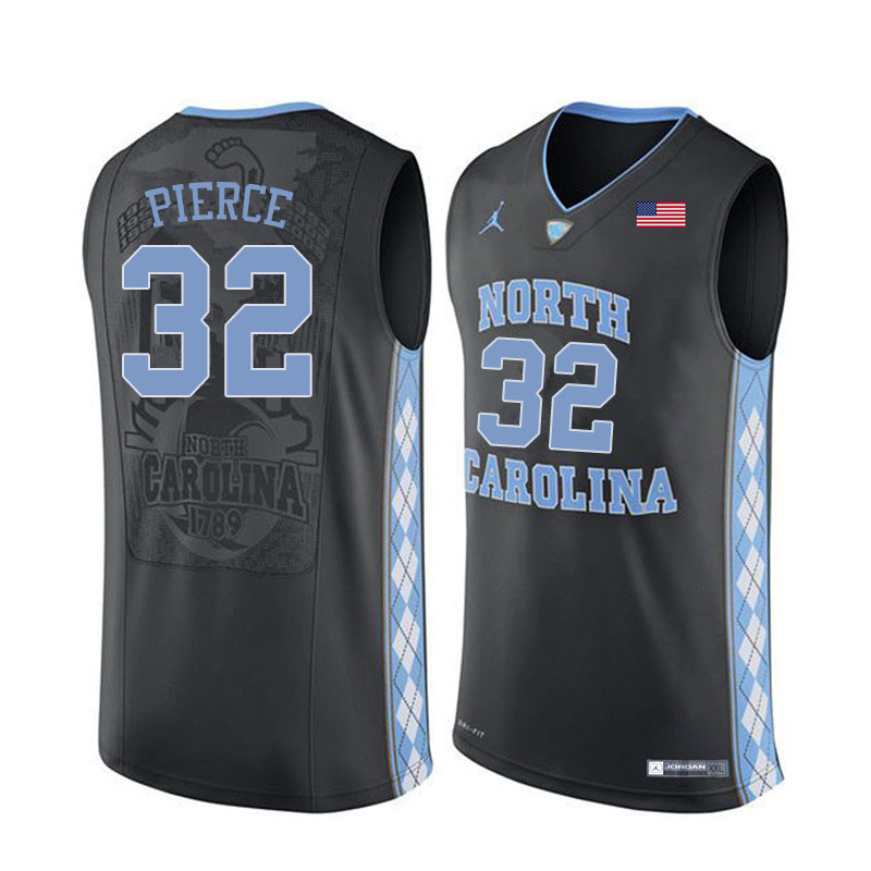 Men #32 Justin Pierce North Carolina Tar Heels College Basketball Jerseys Sale-Black