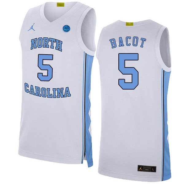2020 Men #5 Armando Bacot North Carolina Tar Heels College Basketball Jerseys Sale-White