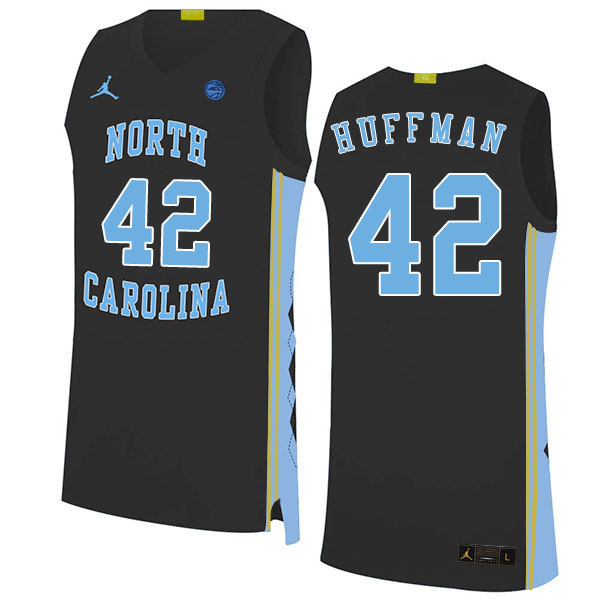 2020 Men #42 Brandon Huffman North Carolina Tar Heels College Basketball Jerseys Sale-Black