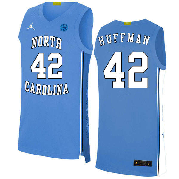 2020 Men #42 Brandon Huffman North Carolina Tar Heels College Basketball Jerseys Sale-Blue