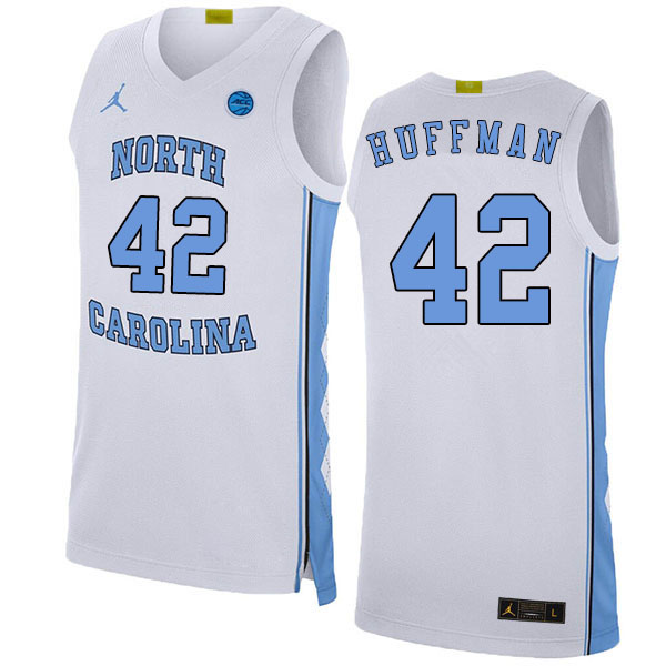 2020 Men #42 Brandon Huffman North Carolina Tar Heels College Basketball Jerseys Sale-White