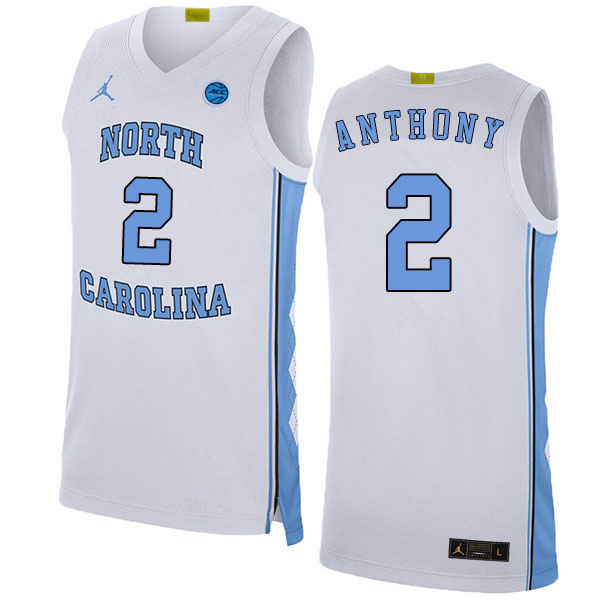 2020 Men #2 Cole Anthony North Carolina Tar Heels College Basketball Jerseys Sale-White