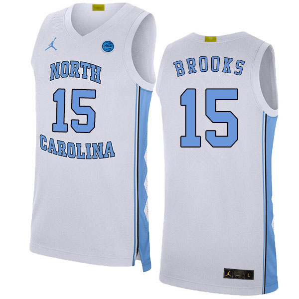 2020 Men #15 Garrison Brooks North Carolina Tar Heels College Basketball Jerseys Sale-White