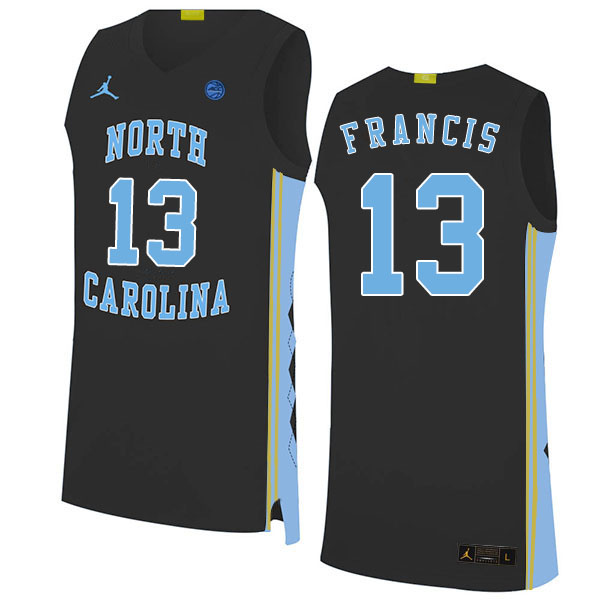 2020 Men #13 Jeremiah Francis North Carolina Tar Heels College Basketball Jerseys Sale-Black