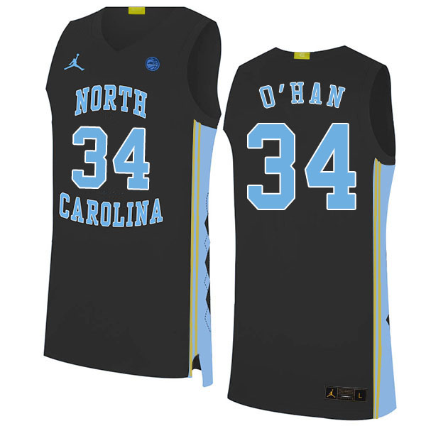 2020 Men #34 Robbie O'Han North Carolina Tar Heels College Basketball Jerseys Sale-Black