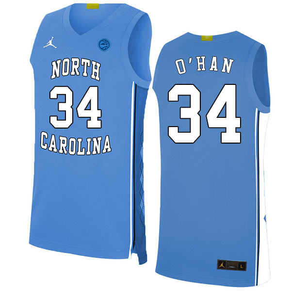 2020 Men #34 Robbie O'Han North Carolina Tar Heels College Basketball Jerseys Sale-Blue