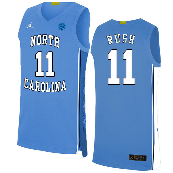2020 Men #11 Shea Rush North Carolina Tar Heels College Basketball Jerseys Sale-Blue