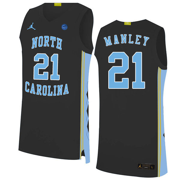 2020 Men #21 Sterling Manley North Carolina Tar Heels College Basketball Jerseys Sale-Black