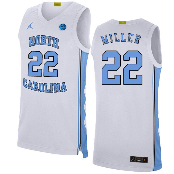 2020 Men #22 Walker Miller North Carolina Tar Heels College Basketball Jerseys Sale-White