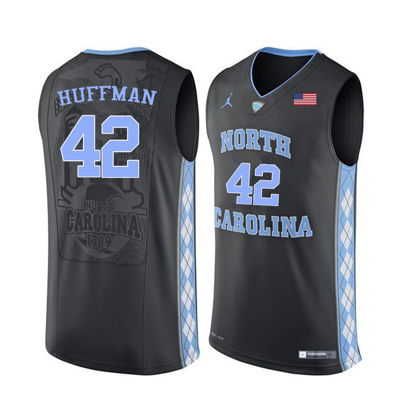 Men #42 Brandon Huffman North Carolina Tar Heels College Basketball Jerseys Sale-Black
