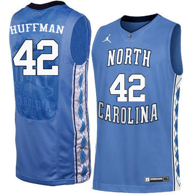 Men #42 Brandon Huffman North Carolina Tar Heels College Basketball Jerseys Sale-Blue