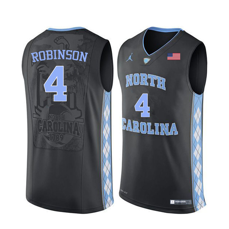 Men #4 Brandon Robinson North Carolina Tar Heels College Basketball Jerseys Sale-Black