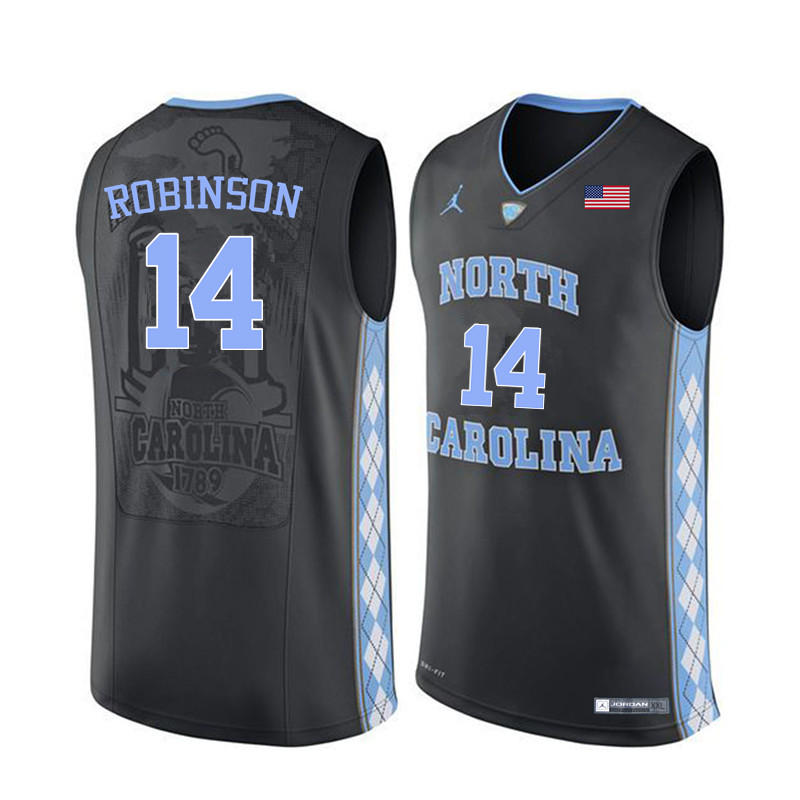 Men North Carolina Tar Heels #14 Brandon Robinson College Basketball Jerseys Sale-Black