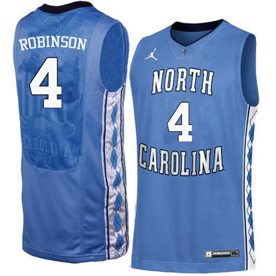 Men #4 Brandon Robinson North Carolina Tar Heels College Basketball Jerseys Sale-Blue