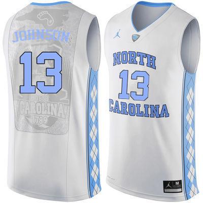 Men #13 Cameron Johnson North Carolina Tar Heels College Basketball Jerseys Sale-White