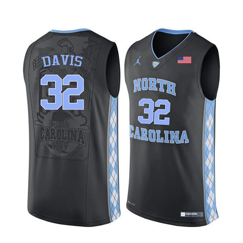 Men North Carolina Tar Heels #32 Ed Davis College Basketball Jerseys Sale-Black