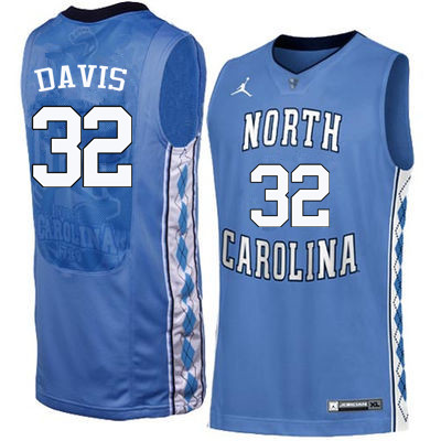 Men North Carolina Tar Heels #32 Ed Davis College Basketball Jerseys Sale-Blue