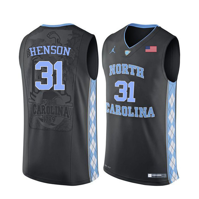 Men North Carolina Tar Heels #31 John Henson College Basketball Jerseys Sale-Black