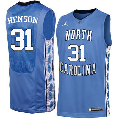 Men North Carolina Tar Heels #31 John Henson College Basketball Jerseys Sale-Blue