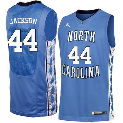 Men North Carolina Tar Heels #44 Justin Jackson College Basketball Jerseys Sale-Blue