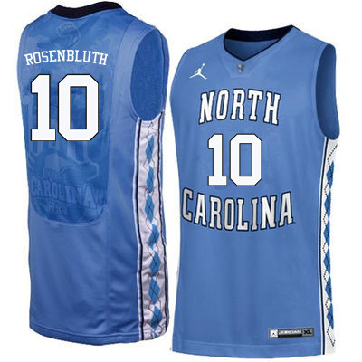 Men North Carolina Tar Heels #10 Lennie Rosenbluth College Basketball Jerseys Sale-Blue