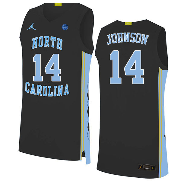 Men #14 Puff Johnson North Carolina Tar Heels College Basketball Jerseys Sale-Black