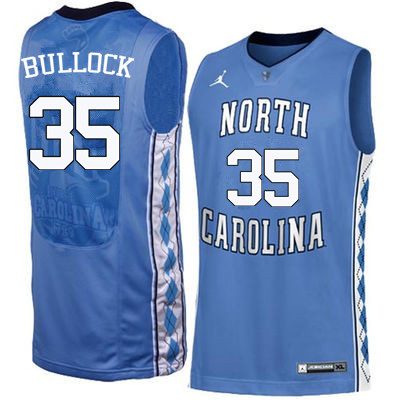 Men North Carolina Tar Heels #35 Reggie Bullock College Basketball Jerseys Sale-Blue