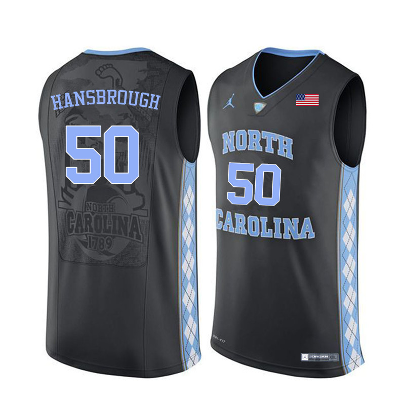 Men North Carolina Tar Heels #50 Tyler Hansbrough College Basketball Jerseys Sale-Black