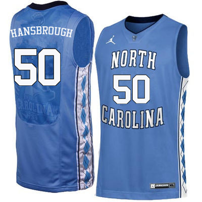 Men North Carolina Tar Heels #50 Tyler Hansbrough College Basketball Jerseys Sale-Blue