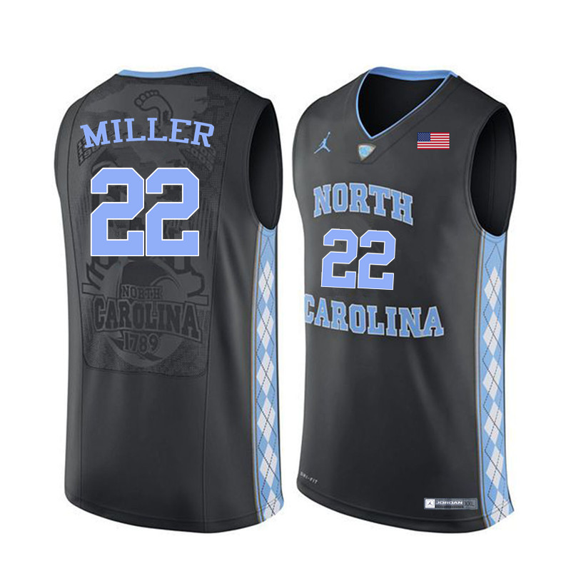 Men #22 Walker Miller North Carolina Tar Heels College Basketball Jerseys Sale-Black
