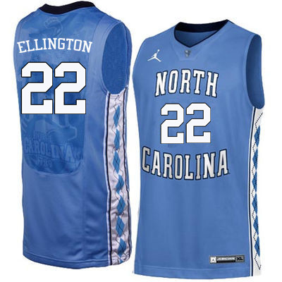 Men North Carolina Tar Heels #22 Wayne Ellington College Basketball Jerseys Sale-Blue
