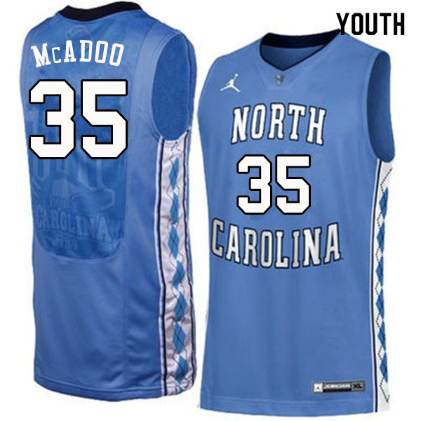 Youth #35 Ryan McAdoo North Carolina Tar Heels College Basketball Jerseys Sale-Blue