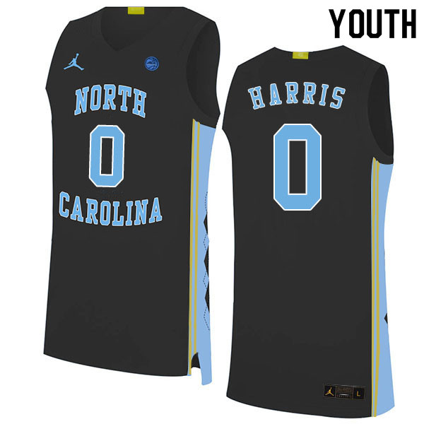 2020 Youth #0 Anthony Harris North Carolina Tar Heels College Basketball Jerseys Sale-Black