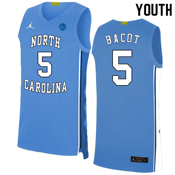 2020 Youth #5 Armando Bacot North Carolina Tar Heels College Basketball Jerseys Sale-Blue