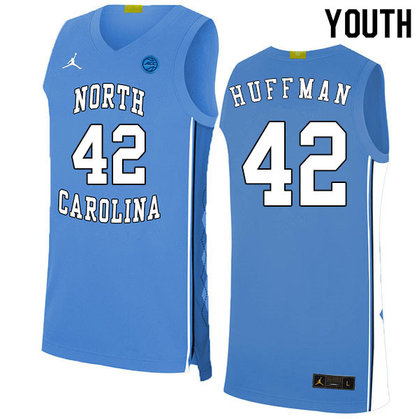 2020 Youth #42 Brandon Huffman North Carolina Tar Heels College Basketball Jerseys Sale-Blue