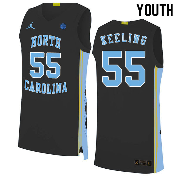 2020 Youth #55 Christian Keeling North Carolina Tar Heels College Basketball Jerseys Sale-Black