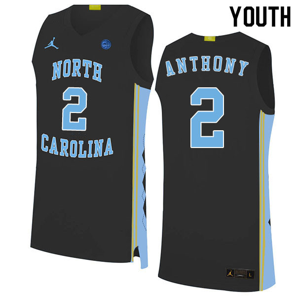 2020 Youth #2 Cole Anthony North Carolina Tar Heels College Basketball Jerseys Sale-Black