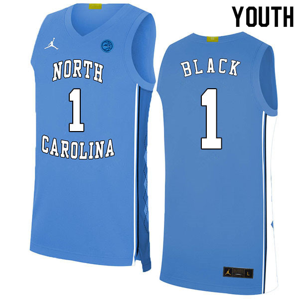 2020 Youth #1 Leaky Black North Carolina Tar Heels College Basketball Jerseys Sale-Blue