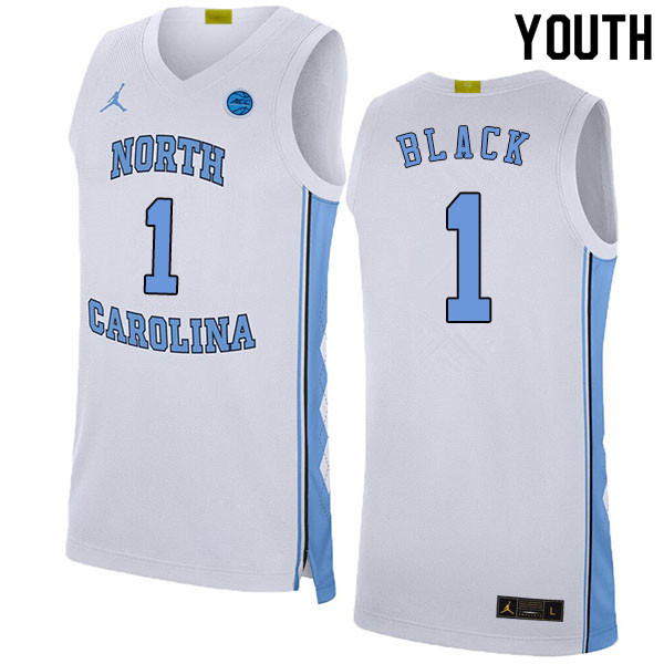 2020 Youth #1 Leaky Black North Carolina Tar Heels College Basketball Jerseys Sale-White