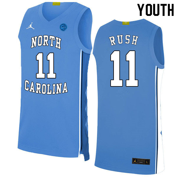 2020 Youth #11 Shea Rush North Carolina Tar Heels College Basketball Jerseys Sale-Blue