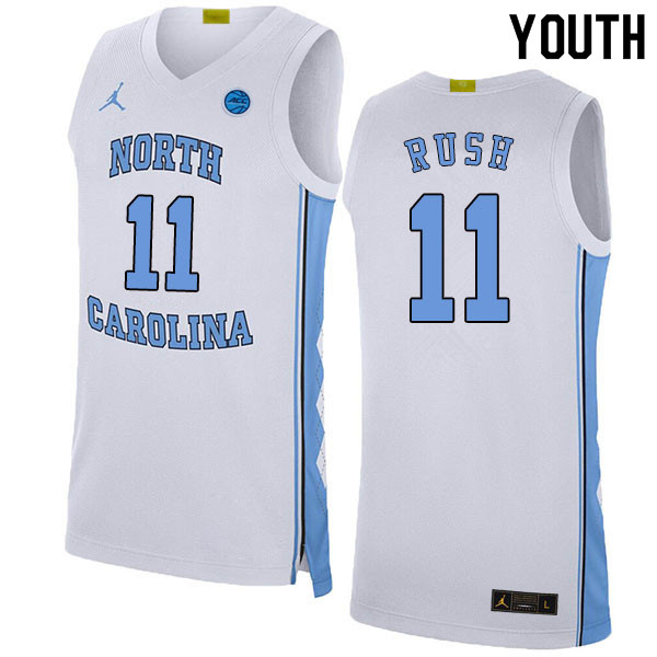 2020 Youth #11 Shea Rush North Carolina Tar Heels College Basketball Jerseys Sale-White
