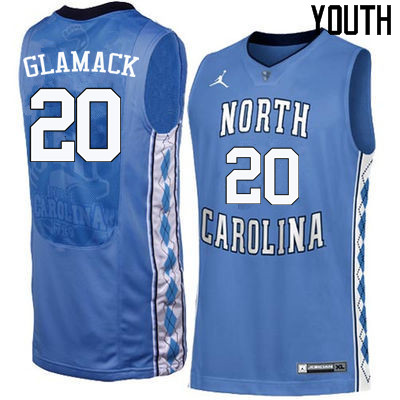 Youth North Carolina Tar Heels #20 George Glamack College Basketball Jerseys Sale-Blue