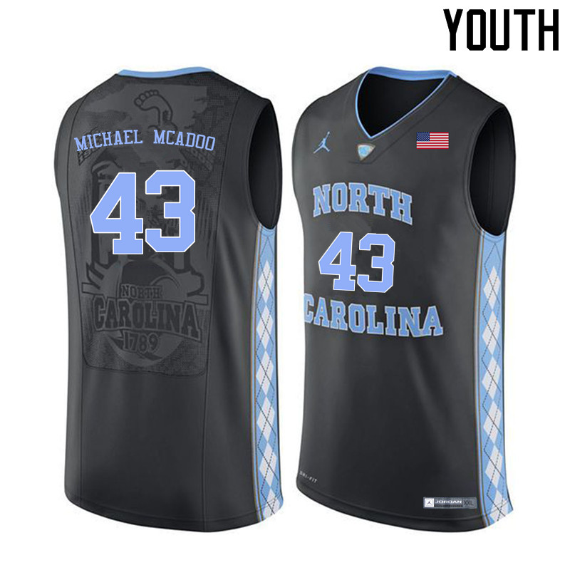 Youth North Carolina Tar Heels #43 James Michael McAdoo College Basketball Jerseys Sale-Black