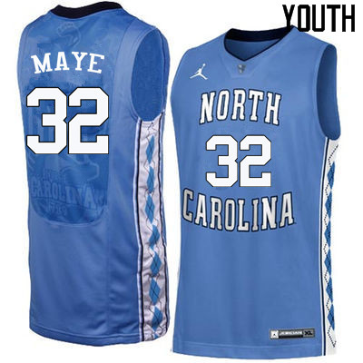 Youth North Carolina Tar Heels #32 Luke Maye College Basketball Jerseys Sale-Blue