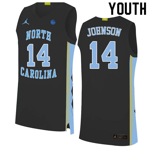 Youth #14 Puff Johnson North Carolina Tar Heels College Basketball Jerseys Sale-Black