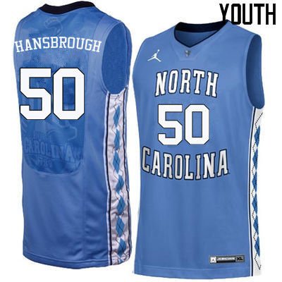 Youth North Carolina Tar Heels #50 Tyler Hansbrough College Basketball Jerseys Sale-Blue