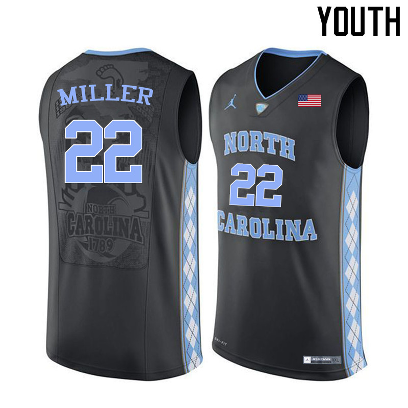 Youth #22 Walker Miller North Carolina Tar Heels College Basketball Jerseys Sale-Black